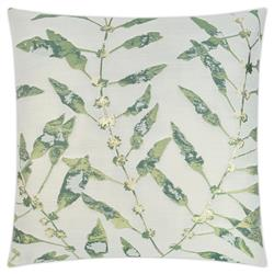 Betha Coastal Beach Square Green Feather Down Decorative Throw Pillow - 20x20