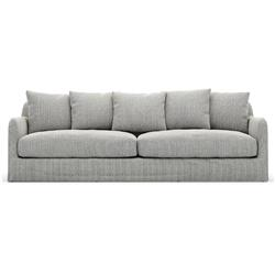 "Cassandra Modern Classic Grey Upholstered Outdoor Sofa - 90"""