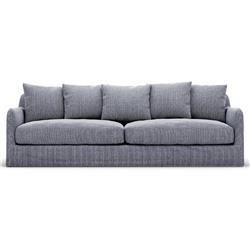 "Cassandra Modern Classic Blue Upholstered Outdoor Sofa - 90"""