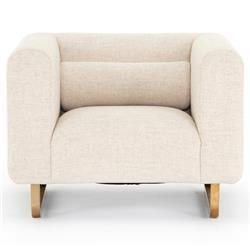 Sey Modern Cream Performance Gold Metal Living Room Arm Chair
