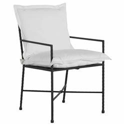 Summer Classics Italia White Performance Cushion Iron Outdoor Arm Chair