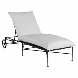 Summer Classics Italia White Performance Black Iron Outdoor Chaise Lounge
