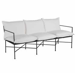 Summer Classics Italia Industrial White Performance Black Iron Outdoor Sofa
