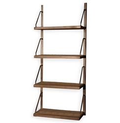 Rennie Industrial Reclaimed Elm Iron Wall Shelf - 59 Inch