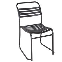 McCobb Industrial Loft Rusted Metal Recycled Rubber Stacking Chair | BOBO-BI-3437