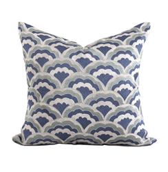Norton Coastal Beach Blue Natural Pillow - 22x22