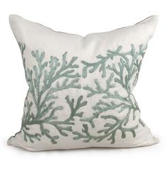 Portland Coastal Beach Seafoam Green Pillow - 24x24