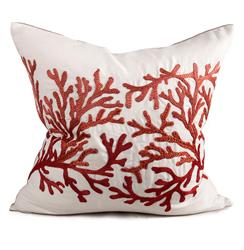 Portland Coastal Beach Coral Pillow - 24x24