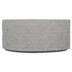Aspen Modern Classic Grey Concrete Honeycomb Round Coffee Table