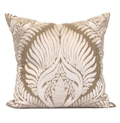 Revere Coastal Beach Tan Natural Pillow - 24x24
