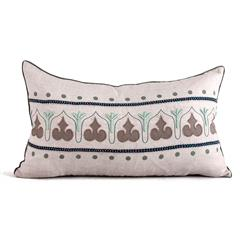Danvers Seafoam Green Natural Hand Embroidered Pillow - 14x24