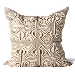 Stow Coastal Beach Natural Swirl Pillow - 24x24