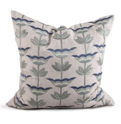 Anson Coastal Beach Natural Blue Pillow - 26x26