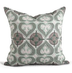 Molino Seafoam Green Medallion Pillow - 22x22