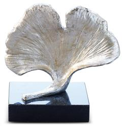 Longevity Hollywood Regency Silver Ginkgo Leaf Sculpture