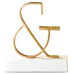 Bell Hollywood Regency Gold Ampersand Sculpture | GV-8.81687