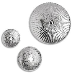 Mollusk Coastal Beach Silver Wall Sculpture - 9 Inch