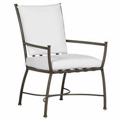 Summer Classics Majorca French Slate Grey Aluminum Outdoor Lounge Arm Chair