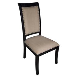 Toulon Hand Rubbed Black French Country Side Chair - Pair