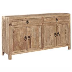 Elma Rustic Lodge Brown Elm Wood Sideboard