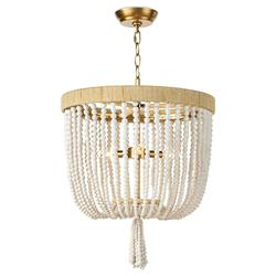 Regina Andrew Milos Coastal White Steel Beach Brown Rattan Chandelier