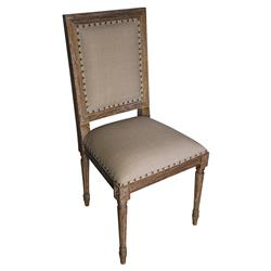 Brittany French Country Grey Wash Wood Side Chair - Pair