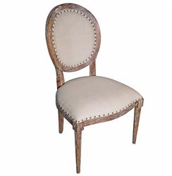 Aragon French Country Grey Wash Side Chair - Pair