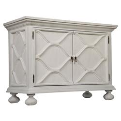 Noir Comles French Country White Weathered Wood Buffet Sideboard