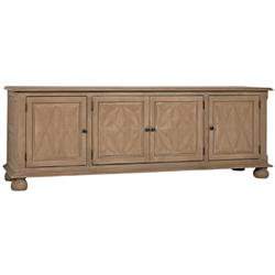 Noir Theodore French Country Weathered Wood Sideboard Buffet Cabinet