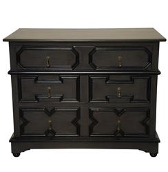Noir Watson French Country Mahogany Wood Dresser
