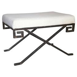 Huan Global Bazaar Metal Linen Stool