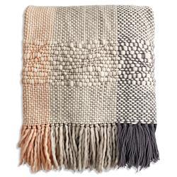 Catavento Ushuaia Coastal Beige Handwoven Wool Throw Blanket