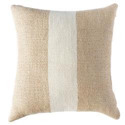 Catavento Sierra Coastal Beige White Striped Handwoven Pillow Cover
