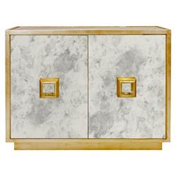 Aldis Modern Classic White Marble Tall Brass Drink Table