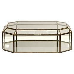 Bishop Hollywood Regency Octagonal Clear Glass Box