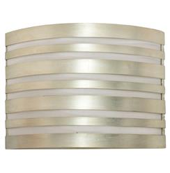 Avenue Hollywood Regency Striped Silver Wall Sconce