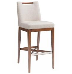 Julian Modern Classic Flax Faux Linen Counter Stool