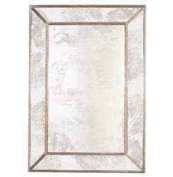 Dorian Hollywood Regency Rectangular Silver Antique Wall Mirror