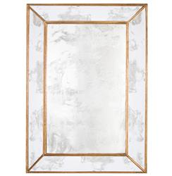 Dorian Hollywood Regency Rectangular Gold Antique Wall Mirror