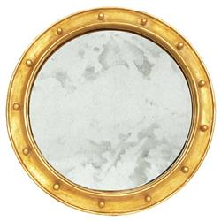Argonaut Industrial Hollywood Regency Gold Antique Wall Mirror - 28D
