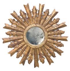 Salutation Global Bazaar Gold Sunburst Antique Wall Mirror