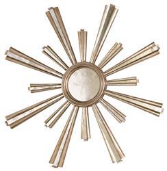 Selena Hollywood Regency Silver Sunburst Antique Mirror
