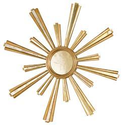 Selena Hollywood Regency Gold Sunburst Antique Mirror