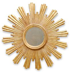Avino Hollywood Regency Gold Sunburst Antique Wall Mirror