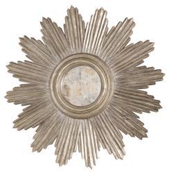 Tennessee Hollywood Regency Silver Sunburst Antique Wall Mirror