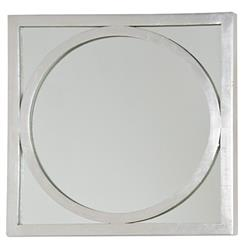 Ovation Hollywood Regency Silver Square Circle Wall Mirror