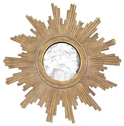 Mitzi Hollywood Regency Gold Sun Antique Wall Mirror