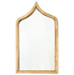 Putrajaya Hollywood Regency Gold Leaf Metal Accent Wall Mirror