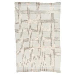 Lorena Canals Shuka Modern Classic White Wool Patterned Rug - 5'7''x7'10''