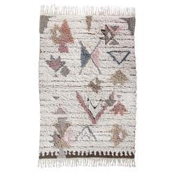 "Lorena Canals Tuba Global Bazaar Multi Colored Wool Shag Rug - 4'7""x6'7"""